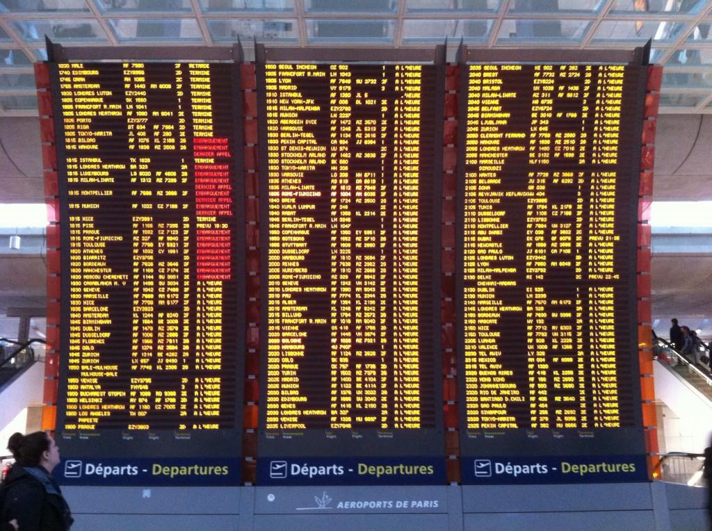 Tableau d'affichage des départs