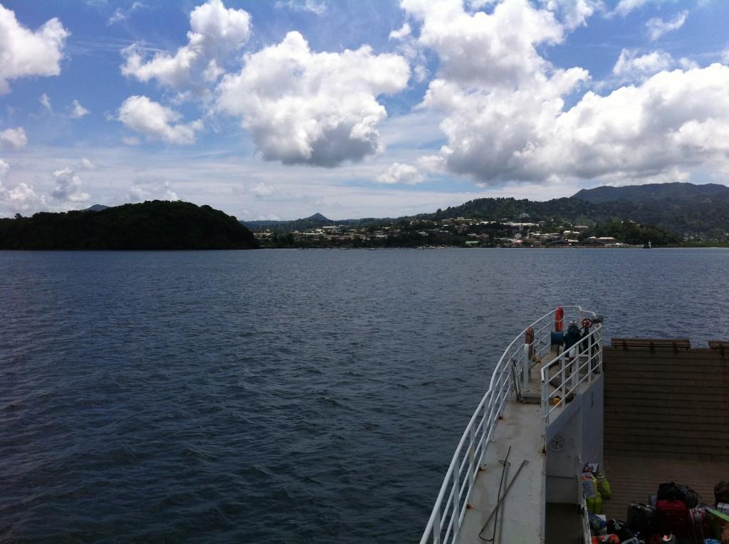 Mamoudzou (vue de la barge)